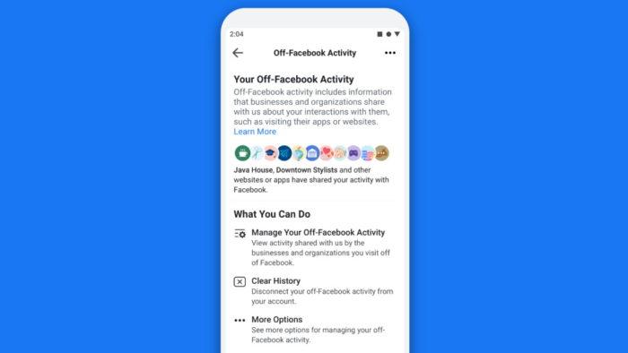 Facebook  Verlauf löschen