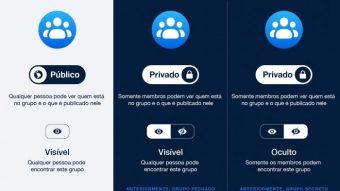 Facebook muda opção de privacidade de grupos fechados e secretos