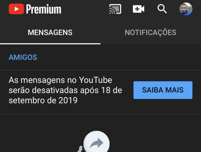 fim youtube mensagens