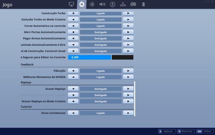 Fortnite / configurações / como aumentar fps fortnite