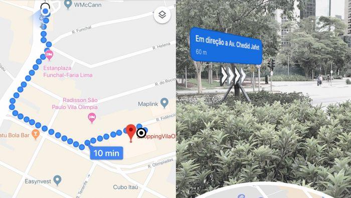 Google Maps e realidade aumentada