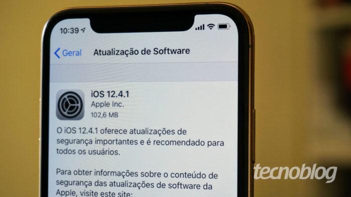 Apple libera o iOS 12.4.1