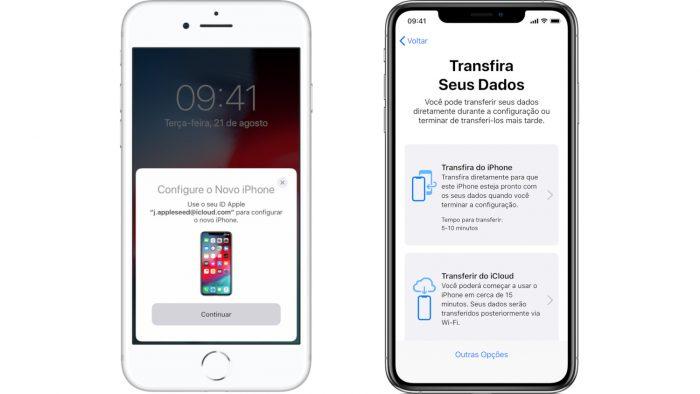 Apple / Início Rápido / como configurar um iphone novo