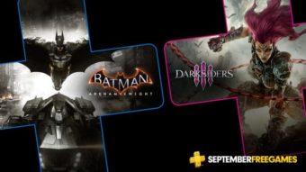 Jogos grátis da PlayStation Plus em Setembro: Batman e Darksiders 3