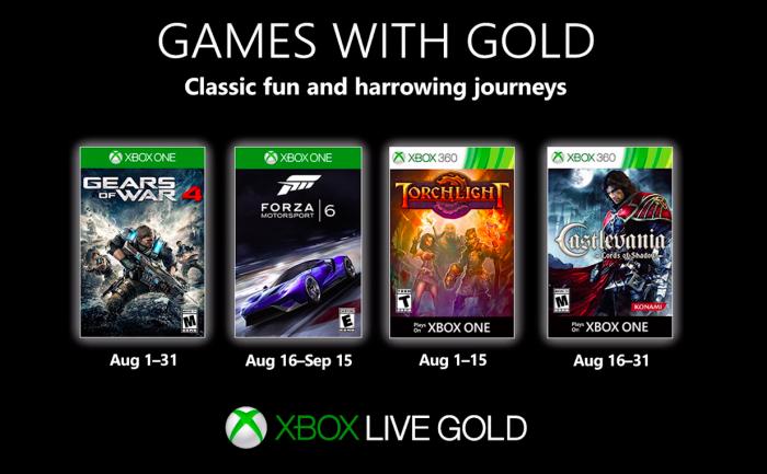 jogos grátis do xbox live gold de agosto de 2019