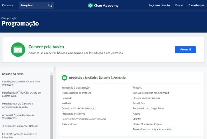 Khan Academy / aprender a programar