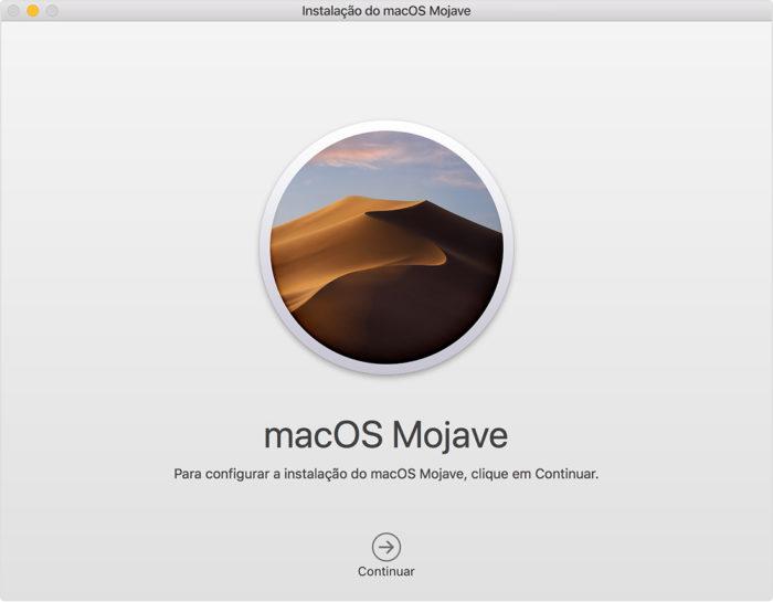 assistente de configuração do macOS