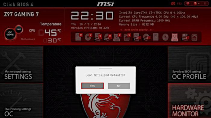 Menu BIOS / instalar macos no pc