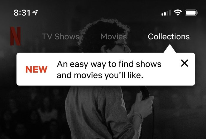 Netflix e coleções