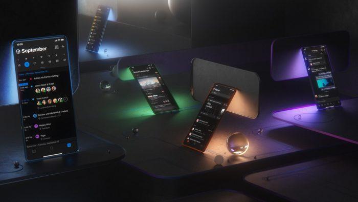 office ios android modo escuro