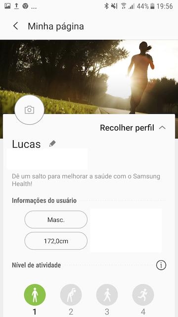 perfil samsung health