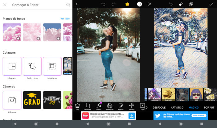 Android / PicsArt / como transformar foto em desenho