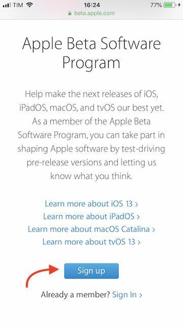 programa beta público ios 13