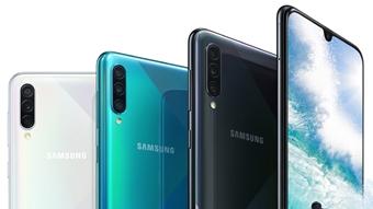 Samsung Galaxy A30s e A50s têm câmera tripla e leitor de digitais na tela
