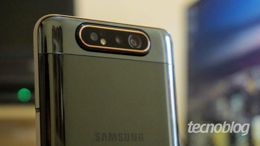 Câmera traseira do Galaxy A80