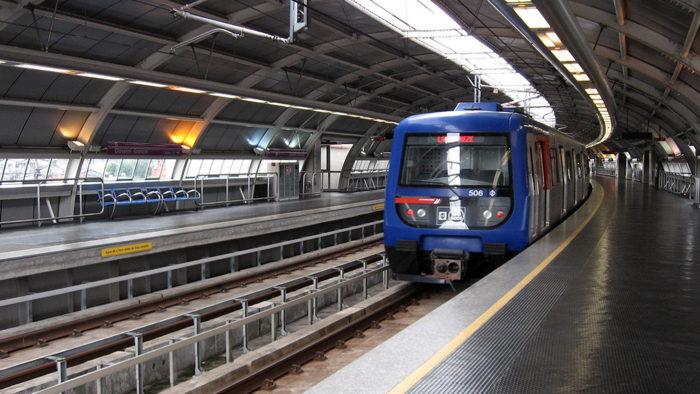 Trem em São Paulo
