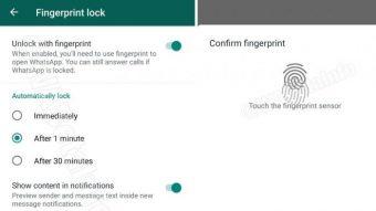 WhatsApp Beta libera bloqueio por impressão digital no Android