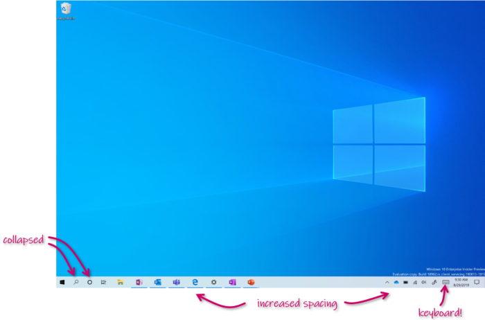 Windows 10 em tela de toque