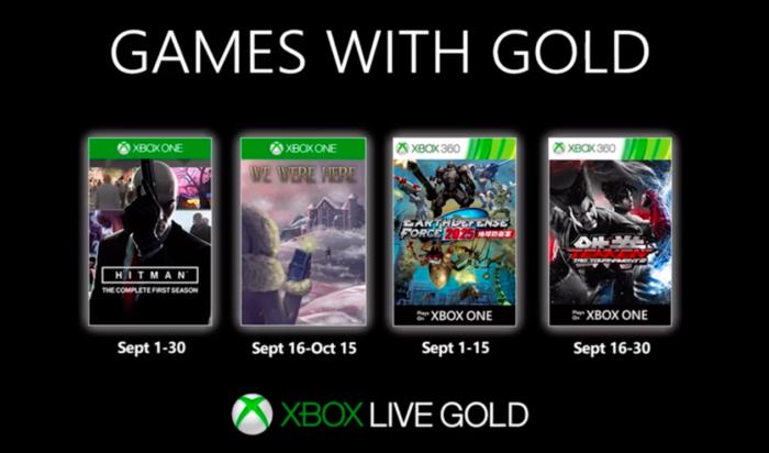 Jogos grátis de setembro do xbox live gold