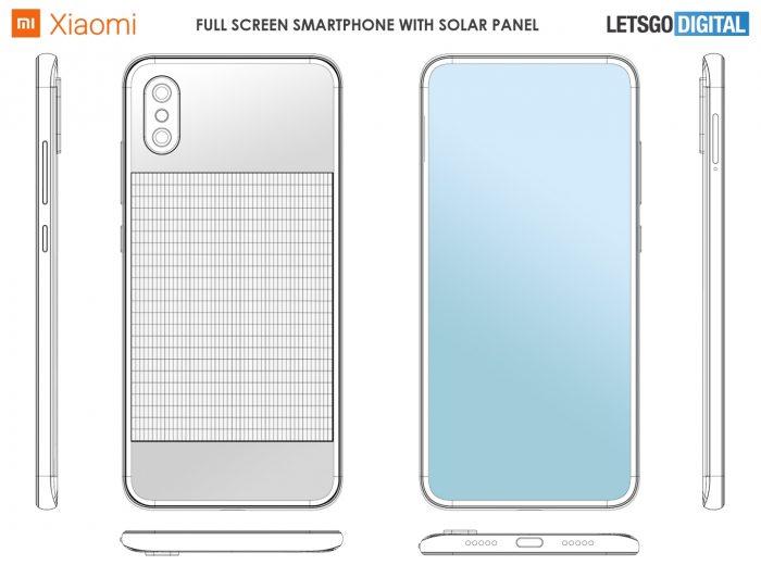 Xiaomi - esboço de celular com painel solar