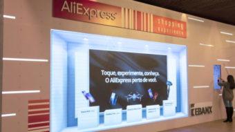 AliExpress expõe celulares da Xiaomi em loja física no Brasil