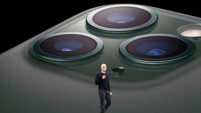 Apple iPhone 11 Pro e Tim Cook