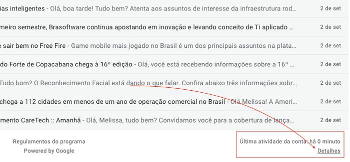 Detalhes - Gmail