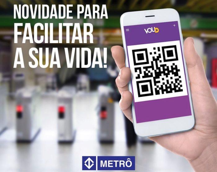 App Voud com QR Code (imagem: Metrô)