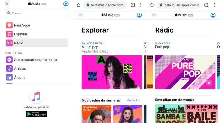 Apple إصدارات الموسيقى النسخة التجريبية للمتصفحات 2