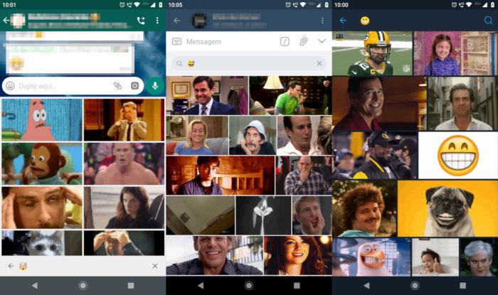 Busca de GIFs com emoji no WhatsApp, Telegram e Twitter / encontrar gif