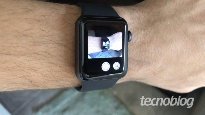 câmera espelhada no apple watch