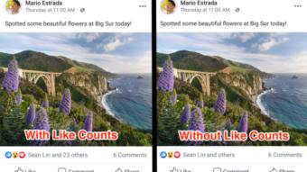 Facebook começa a esconder número de likes em posts