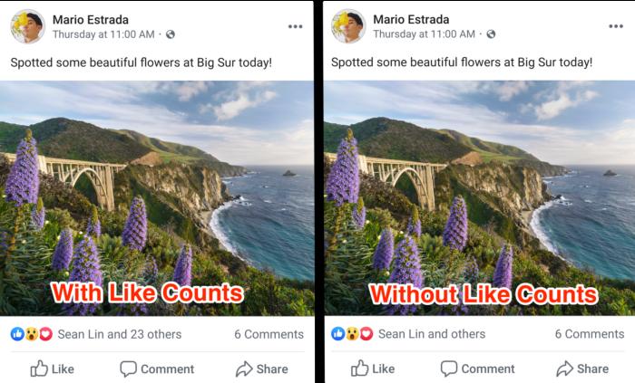 Facebook sem curtidas