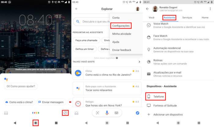 Android / confugurações da Google Assistente / como configurar google assistente