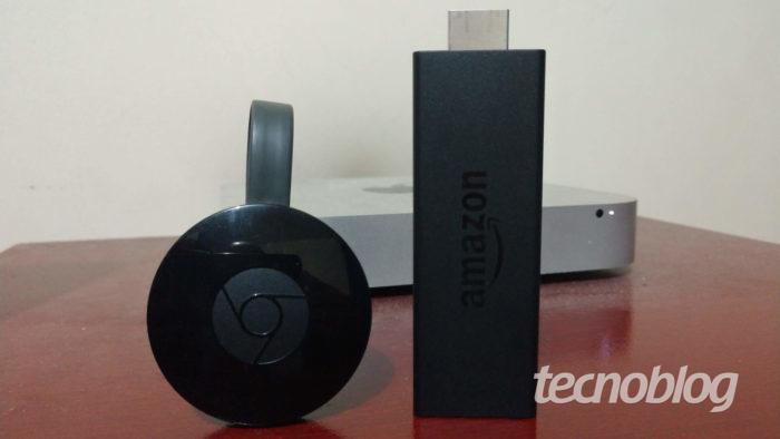 Chromecast 2 e Amazon Fire TV Stick / Fire TV Stick ou Chromecast
