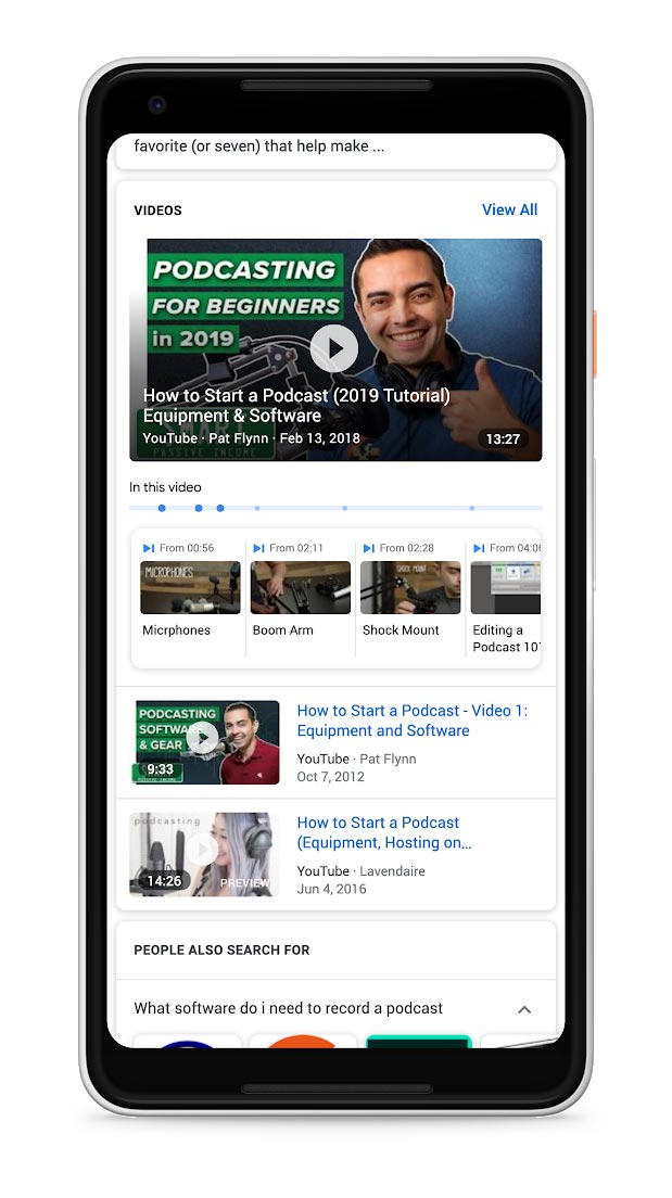 Гугл ќе потенцира одредени видео моменти во пребарувањето 1