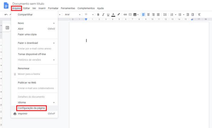 Google Docs / como colocar margem no google docs