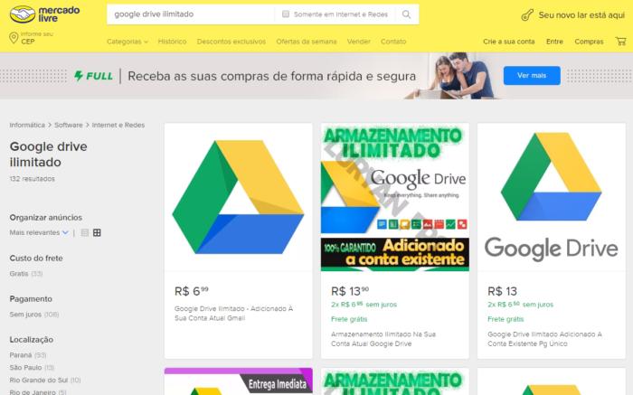 Google Drive unbegrenzt auf dem freien Markt