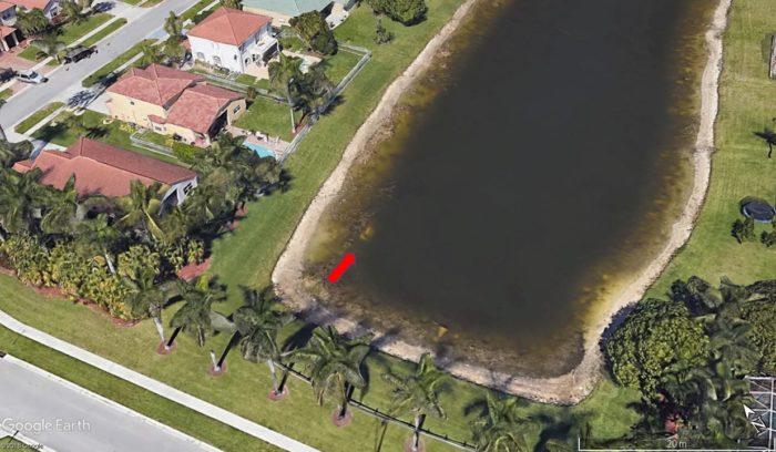 Carro encontrado em lago via Google Earth