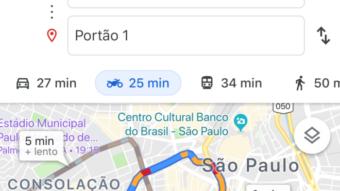 Google Maps com navegação para motos no Brasil