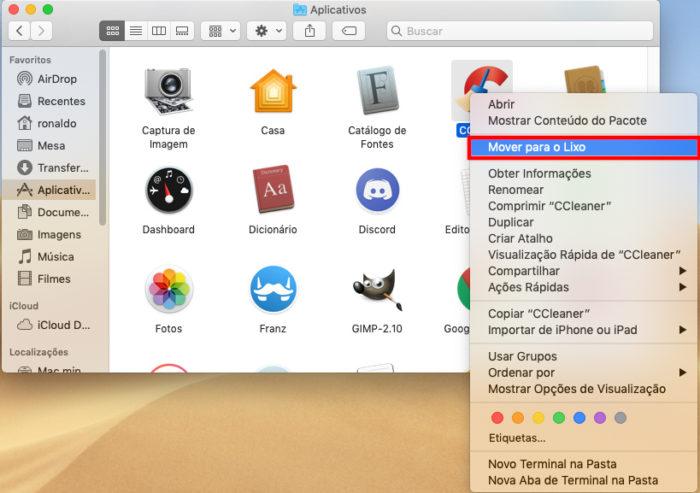 macOS / deletar aplicativos / aplicativo mac