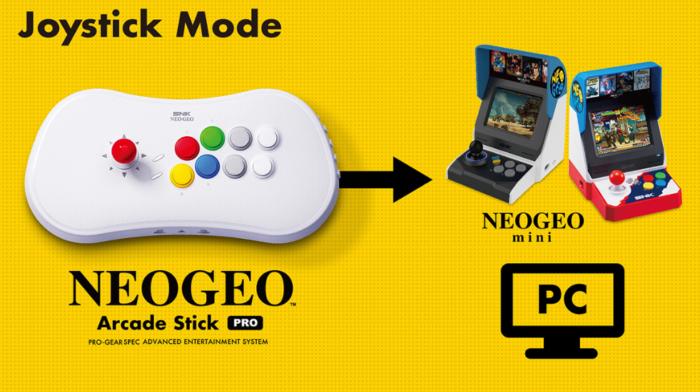 Neo Geo Arcade Stick Pro é um console retrô e controle