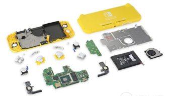 Nintendo Switch Lite é menos fácil de ser reparado