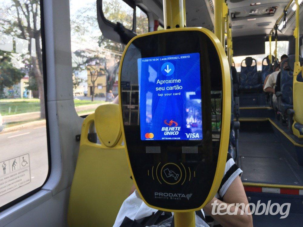 Validador para pagamento contactless em ônibus