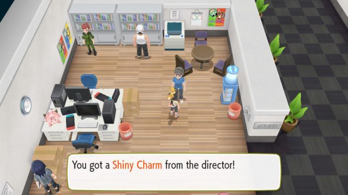 Pegando item Shiny Charm