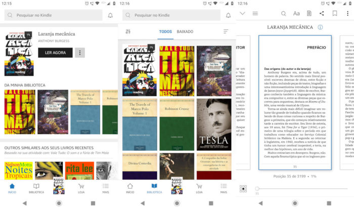 Android / Kindle / Amazon Prime Reading