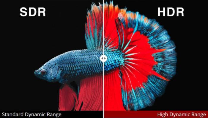 SDR x HDR / Dolby Vision HDR10 HDR10+ HLG
