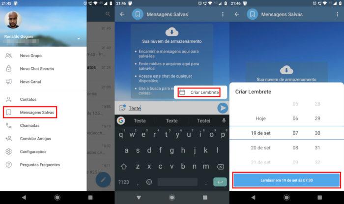 Android / Telegram / agendar telegram