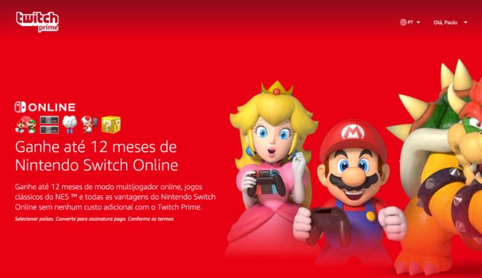 Amazon Prime / Nintendo Switch Online grátis por 12 meses