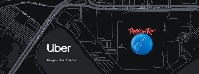 Uber no Rock in Rio terá estacionamento no Parque dos Atletas